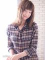 抜け感のある外ハネスタイル×ハイ透明感のカラー solea yuuki