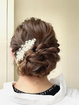大人かわいい結婚式アレンジヘア