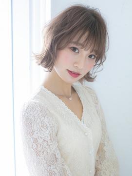 ショートパーマ_くびれショート_ことりベージュ_