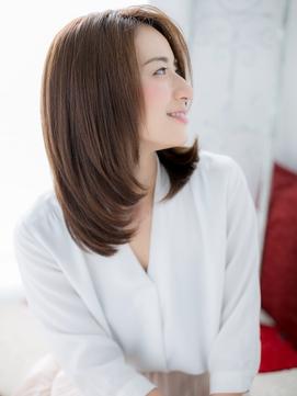 越谷/髪質改善/ルミエールジンジャーのワンカールセミディa