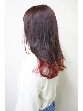 【デザイン】甘いピンクが可愛い裾カラー