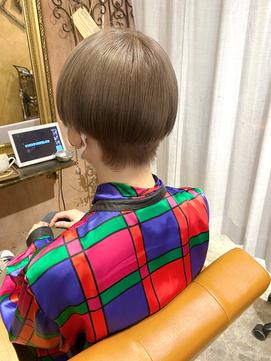 ブロンド×ダブルカラー×超音波アイロン髪質改善トリートメント