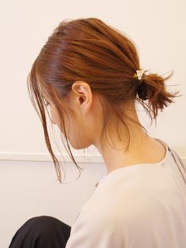 ミディアムお団子ヘア[back]