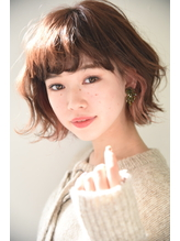 【Lepes】ゆるふわ外ハネボブ☆インナーカラー 内巻き.54