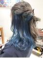DAYS 明治神宮前デザインカラーインナーカラーブルーカラー10代