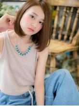 *+COVER HAIR+*…ツヤ色☆ワンレンボブb イエローアッシュ.22