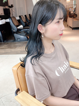 ★ブリーチなし/暗髪/ 透明感/ブルーブラック/ブルージュ/ブルー