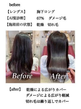 乾燥と切れ毛髪質改善トリートメント
