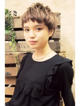 【+~ing】 外国人風ポップワイドバングショート ガーリー.37