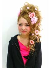 ピンクフラワー盛り☆ 盛り髪.58