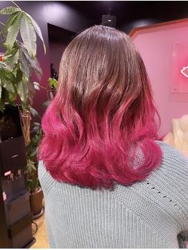 gradation color pink
