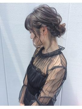 抜け感×編み込みパーティーシニヨン【Steed/立川】