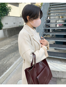 小顔美人ショートカット20代30代/くびれショート/ミストバング