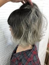 【ANKH CROSS 原宿店 玉手】ホワイトグレーグラデーション.49