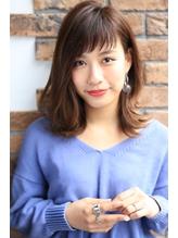 【NOA】前髪が決め手.切りっぱなしボブ デザインカラー オン眉 前髪パーマ.56