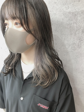 【peony】インナーカラーミルクティーベージュ☆福岡/西新