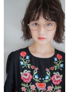 【KENTO】くせ毛メガネでレトロボブ☆
