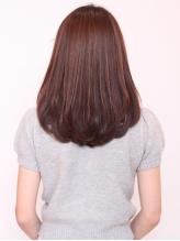 スタイリングしやすいサラツヤのストレートヘアを♪髪質・クセに合わせた施術でどうぞ!!
