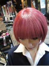 ピンクショートヘアスタイル 盛り髪.9