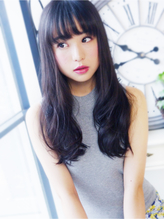 【ヘアジュレドゥ 古居】 黒髪 Sweet ウェーブロング 大人女子.37