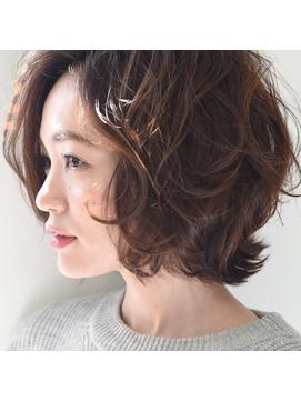 セミウェット風春夏パーマボブ【パーソナルカラー】