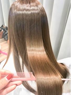 髪質改善×ミルクティーベージュ