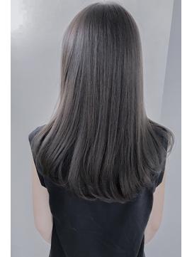 ★グレーベージュカラーダークアッシュベージュくすみカラー黒髪