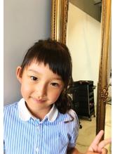【kidsモデル】アシメバング×アレンジ.0