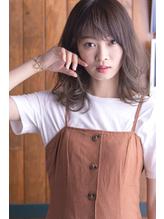 グレージュ×切りっぱなしラフミディ【hair design collet】.25