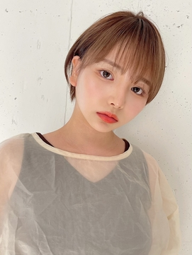 【東 純平】大人可愛い小顔丸みショートボブ