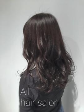 Ail style 黒髪グレージュ3Dハイライトカラー