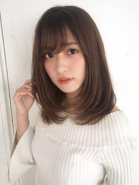 Chika ナチュラル大人可愛い上品レイヤーストレート×秋カラー