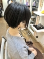 【micca下北沢】☆黒髪前髪あり×ツーブロックショートボブ☆