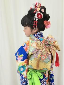 七五三 七歳 日本髪