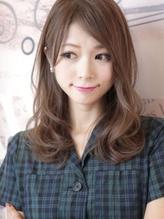 【throw】はちはりさんオススメセミロング☆ デジタルパーマ.49