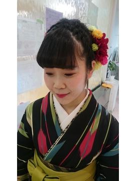 袴に似合うアップスタイル