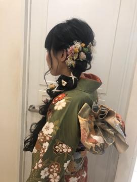 着物スタイル♪振袖に合うラプンツェル風の成人式ヘア☆