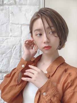 【東 純平】大人可愛い ロングバング 耳掛け ひし形ショート