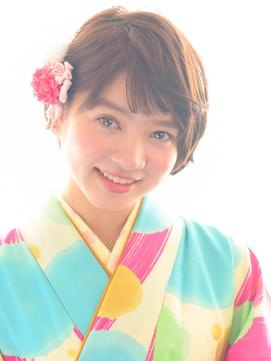 【ショートヘアーに!】卒業式の袴の着付け&ヘアアレンジ♪
