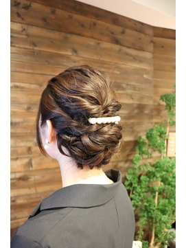 結婚式(二次会・1.5次会)編み込みアップスタイル