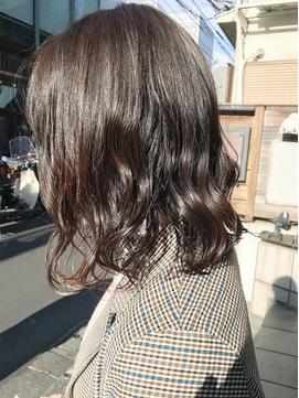 ボブパーマ/ルーズ/毛先パーマ/アッシュパール/美髪○