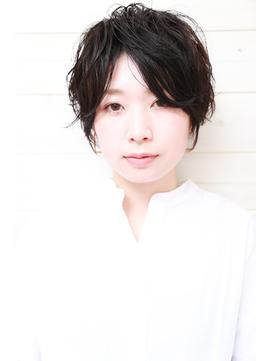 [OCEAN Hair&Life]黒髪☆春パーマ☆ベリーショート☆