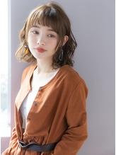 【GARDEN西川】3Dカラー・ジグザグバングヴェールウェーブボブ.44