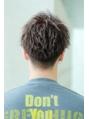 メンズ短髪人気ヘア 【スパイキーアップバング】 2ブロック