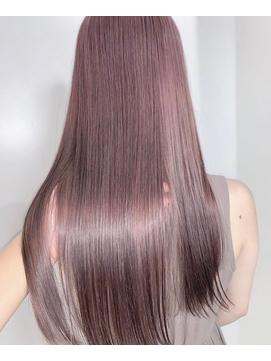【恵比寿ro-ro】ピンクベージュ×髪質改善ストレート