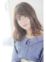 【mod' hair高崎】好印象☆ゆる巻きセミディ/ヌーディーベージュ.7