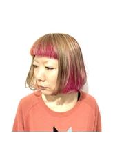 [prankster]ピンクとオレンジのツートーンインナーカラー.53