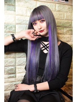 ☆CAPSULE☆シルバーアッシュ×紫メッシュ