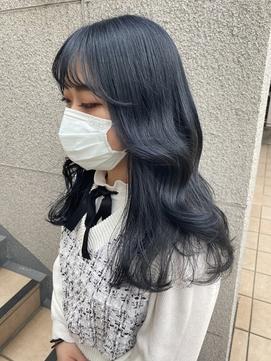ブルーブラック×ヨシンモリ 【韓国ヘア】