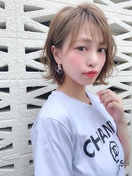 【knot阿部展大】色っぽ可愛いゆるふわ柔らかパーマボブ☆